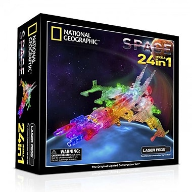 The Laser PegsMD – Trousse de construction 24-en-1 National Geographic, l'espace