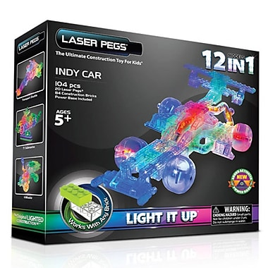 The Laser Pegs® 12-in-1 Indy Car Building Kit