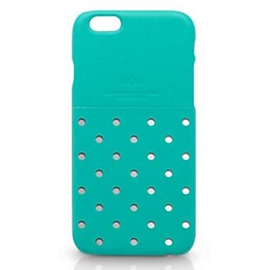 Kajsa iPhone 6 Plus Neon Collection Dot Pattern Pocket Back Case, Tiffany