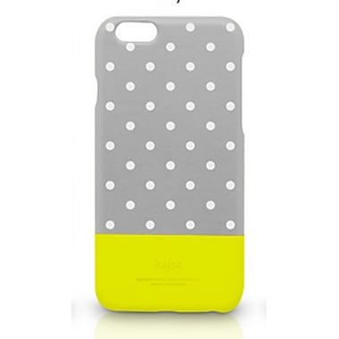 Kajsa iPhone 6 Plus Neon Collection Polka Dot Pattern Glow-In-The-Dark Back Case, Grey