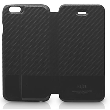Kajsa – Étui en cuir multiangle de la collection Svelte pour iPhone 6 Plus, noir