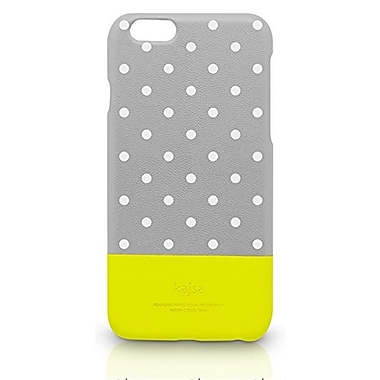 Kajsa – Étui multiangle à pois fluorescents Neon pour iPhone 6 Plus, gris