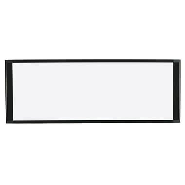 MasterVision – Tableau à effacement sec magnétique pour bureau à cloison, 36 po x 13 po, cadre aluminium noir, (MA16007705)