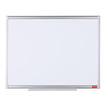 Staples Magnetic Lacquered Steel Dry-Erase Board, White and Aluminum Frame, 35