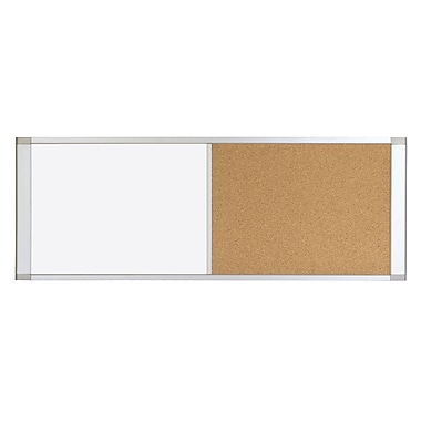 MasterVision™ Cubicle Cork & Gold Ultra Combo Board, Aluminum Frame, 36