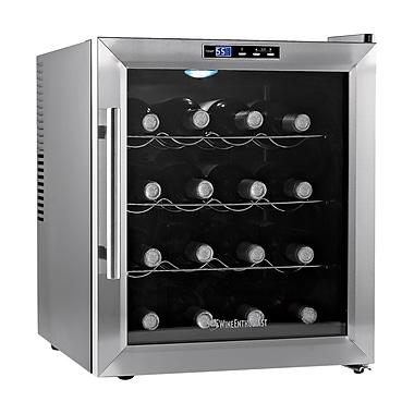 Wine Enthusiast Companies 16 Bottle Silent Single Zone Freestanding Wine Cooler