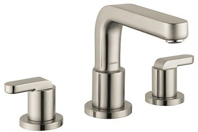 Hansgrohe Metris S Two Handle Deck Mount Roman Tub Faucet w/ Hand Shower; Brushed Nickel