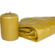 PUFF Ultra Light Indoor/Outdoor w/ Compact Travel Bag Throw; Gold