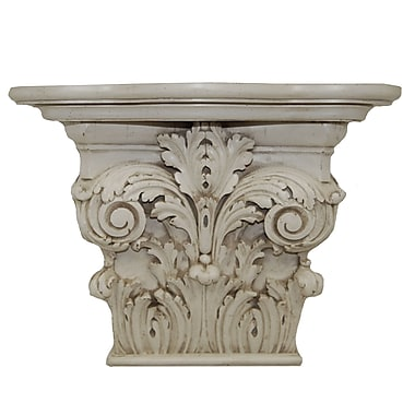 Hickory Manor House Capital Shelf; Old World White