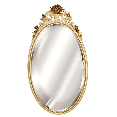 Hickory Manor House Oval Flower Basket Mirror; Ivory Gold