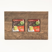 Bright Green Reclaimed Wood Wall Planter; Brown
