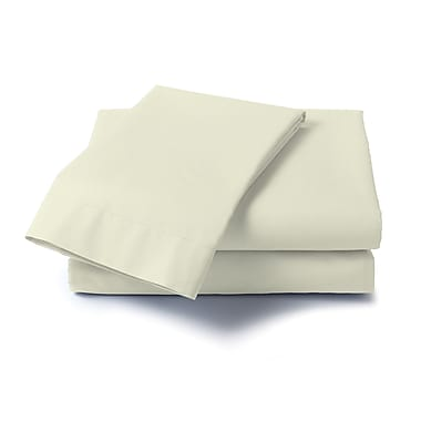 Dreamz Hard to Fit 400 Thread Count Olympic Queen Sheet Set; Ivory