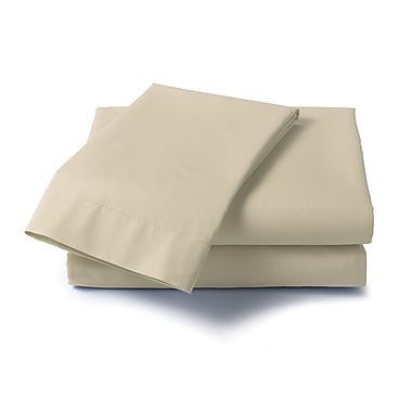 Dreamz Hard to Fit 400 Thread Count Olympic Queen Sheet Set; Taupe
