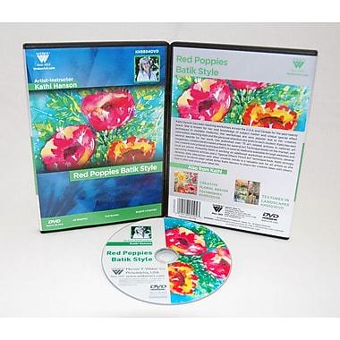 Weber Art Kathi Hanson Watercolor Poppies Batik Style 1 Hour DVD