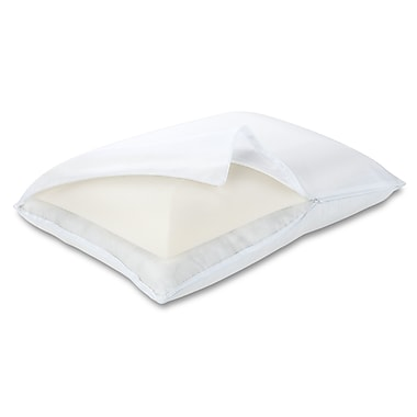 Luxury Solutions Memory Foam and Fiber Standard Pillow