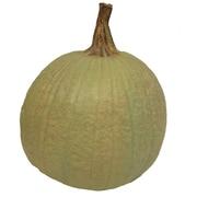 Craft-Tex Medium Pumpkin Figurine; Sage Green
