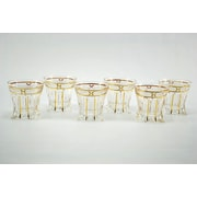 Three Star Square Based Double Old Fashion Glasses (Set of 6)