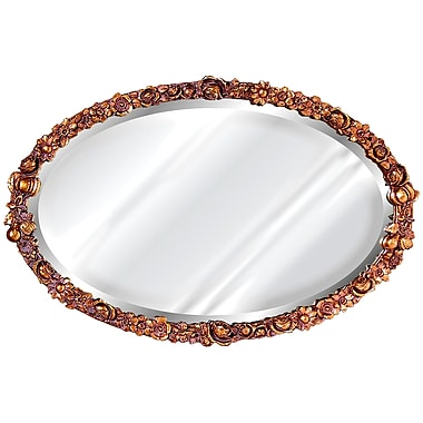 Hickory Manor House Floral Mirror; Bronze