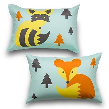 Where the Polka Dots Roam Woodland Creatures 2 Piece Ultra Microfiber Pillowcase Set (Set of 2)