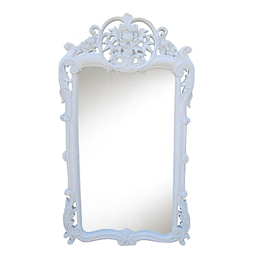Hickory Manor House Flourishing Mirror; Gloss White