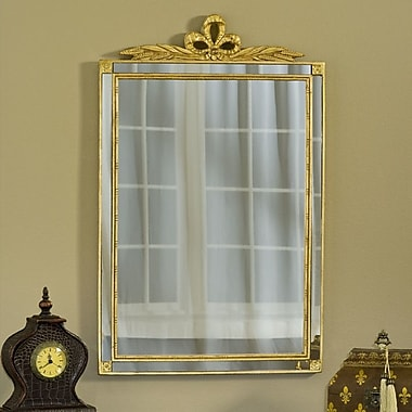 Hickory Manor House Old World Mirror w/ Side Glass; Gold Leaf