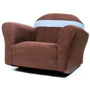 Keet Keet Bubble Children's Rocking Chair; Microsuede - Brown/Sky Blue