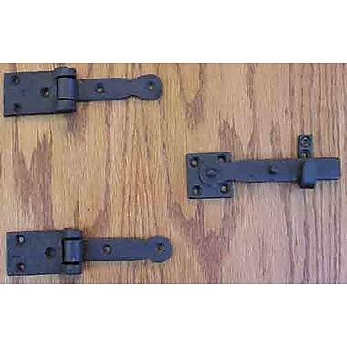 Agave Ironworks 6'' H 1.5'' W Surface Mount Pair Door Hinges; Black