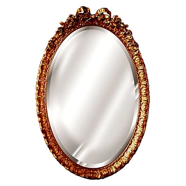 Hickory Manor House Oval w/ Bow Mirror; Baroque