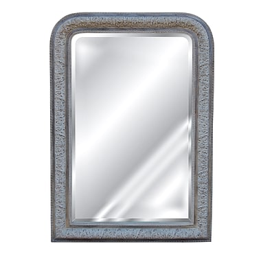Hickory Manor House Napoleon III Mirror; Creme Gold Silver
