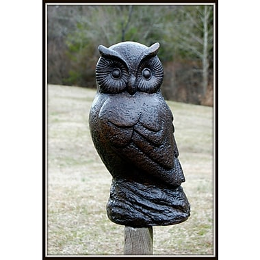 Craft-Tex ''Ozzy'' Owl Statue; Walnut