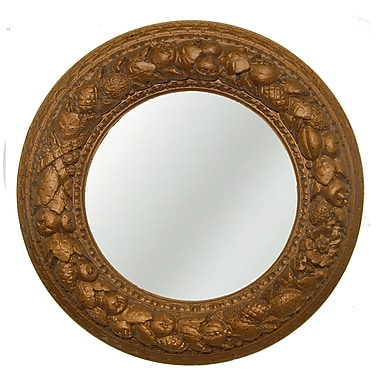 Hickory Manor House Nut Ring Mirrored Ceiling Medallion; Bronze