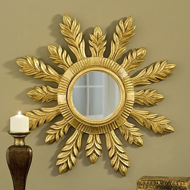 Hickory Manor House Solare Mirror; Gold Leaf