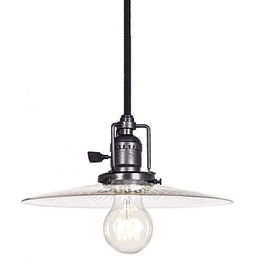 JVI Designs Union Square 1 Light Mini Pendant; Gun Metal