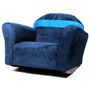Keet Keet Bubble Children's Rocking Chair; Microsuede - Navy/Blue
