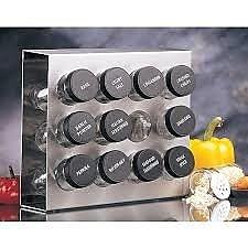 Prodyne 12 Jar Spice Jar & Rack