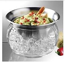Prodyne Steel Iced Dip Cup and Acrylic Chill Bowl WYF078277431900