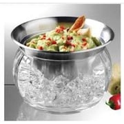Prodyne Steel Iced Dip Cup and Acrylic Chill Bowl
