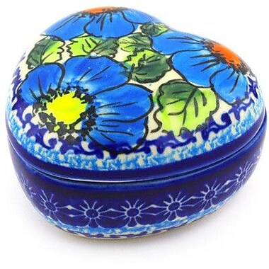 Polmedia Polish Pottery Stoneware 0.15 qt. Storage Jar