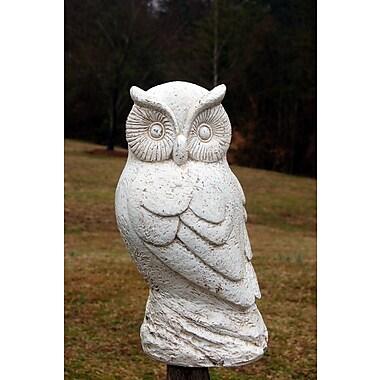 Ladybug Garden Ozzy Owl Statue; Dover White