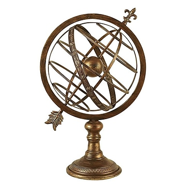 EC World Imports Engraved Metal Armillary Nautical Celestial Sphere Globe