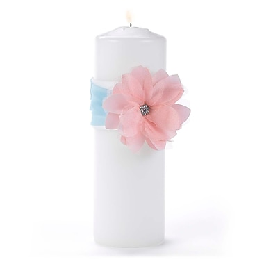 Hortense B. Hewitt Unity Candle with Wrap, Pretty Pastels