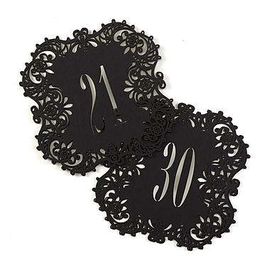 Hortense B. Hewitt Laser Cut Table Number Cards, 21 to 30