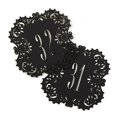 Hortense B. Hewitt Laser Cut Table Number Cards, 31 to 40