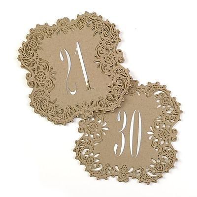 Hortense B. Hewitt Kraft Laser Cut Table Number Cards, 21 - 30