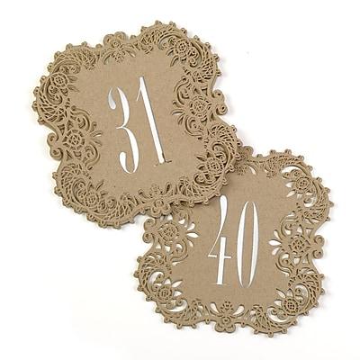 Hortense B. Hewitt Kraft Laser Cut Table Number Cards, 31 - 40