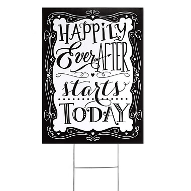 Hortense B. Hewitt Yard Sign, Happily Ever After