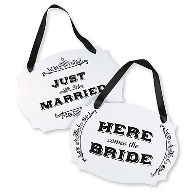 Hortense B. Hewitt Here Comes The Bride Two Sided Sign