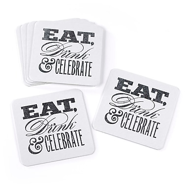 Hortense B. Hewitt Glitter Coasters, Eat, Drink & Celebrate