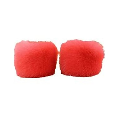 Best Desu Faux Fur Wristwarmers, Red