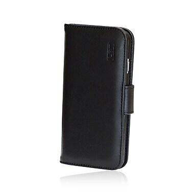 LBT – Étui portefeuille à rabat en cuir pour iPhone 6, noir